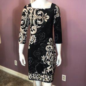 White House Black Market Square-Neck Knit Dress